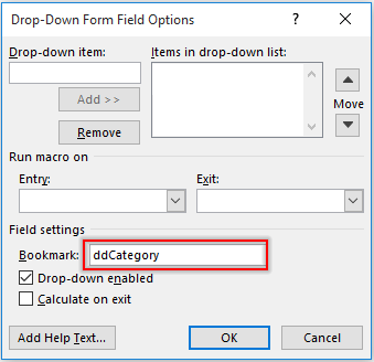 How to create dependent drop-down lists in Word document?