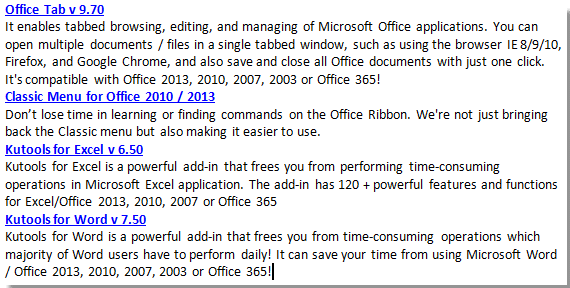 How to select and copy all hyperlinks from a Word document?
