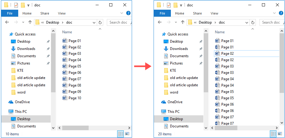 How to batch convert  doc format files to  docx in Word?
