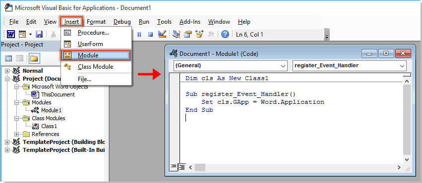 how to click to enlarge or expand image in word document?press the f5 key to run the code and close the microsoft visual basic for applications window