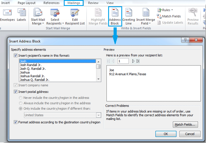 How To Create And Print Envelopes From The Mailing List In Word