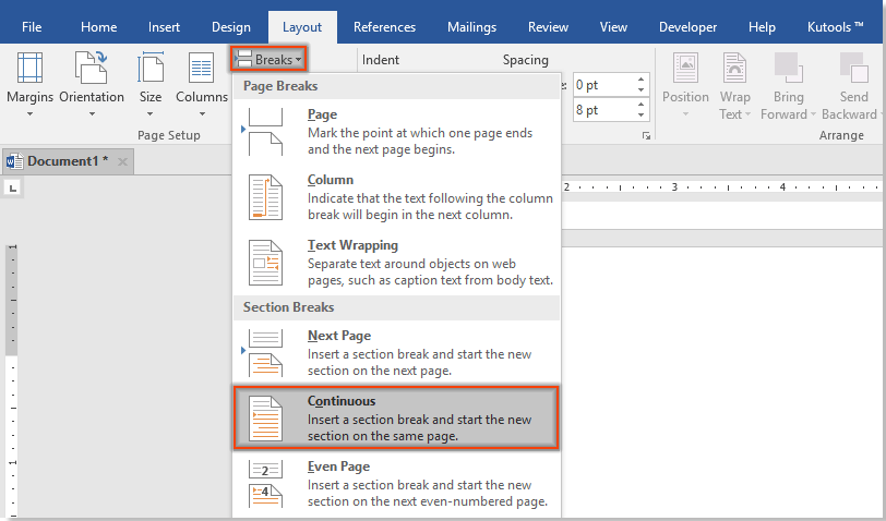 How to remove a watermark from one certain page in a Word document?