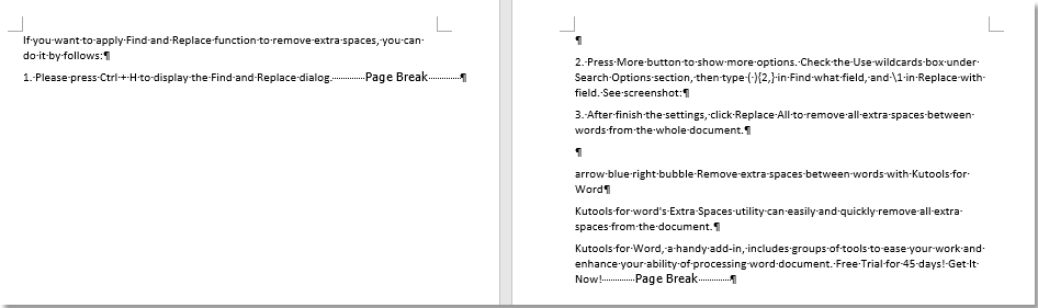 doc remove page breaks 7