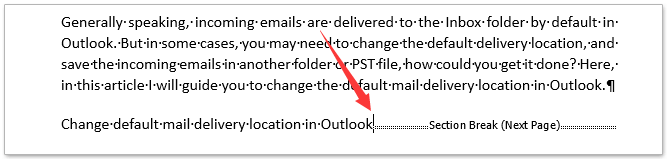How to remove all section breaks in Word?