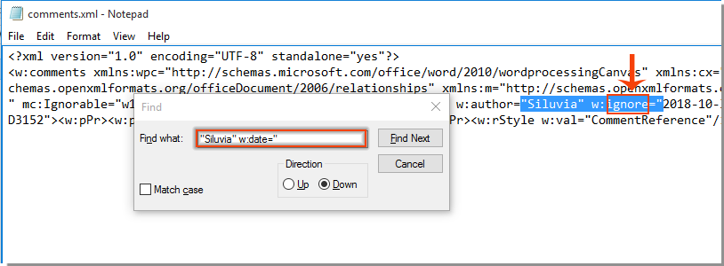 How to remove timestamps from existing comments in Word