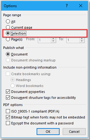 doc export selected page to pdf 3