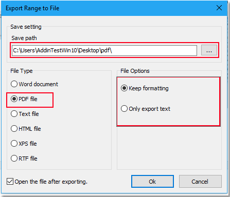 doc export selected page to pdf 7