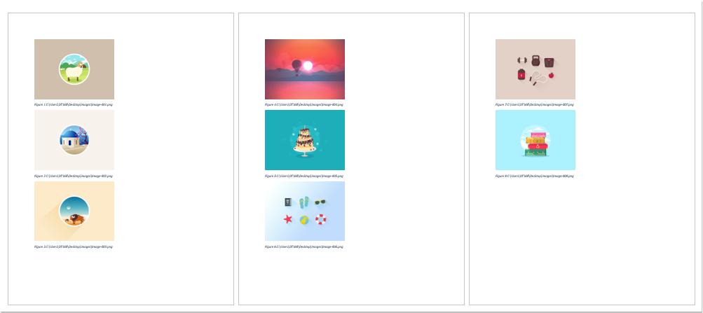 doc insérer des images avec la même taille 6