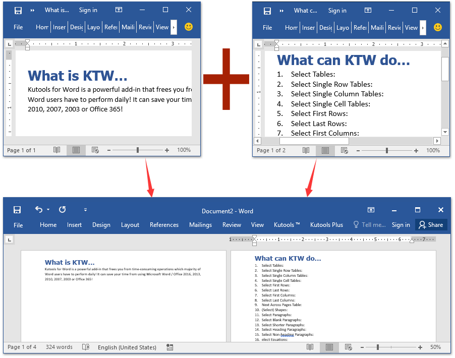 merge word documents into one keep formatting