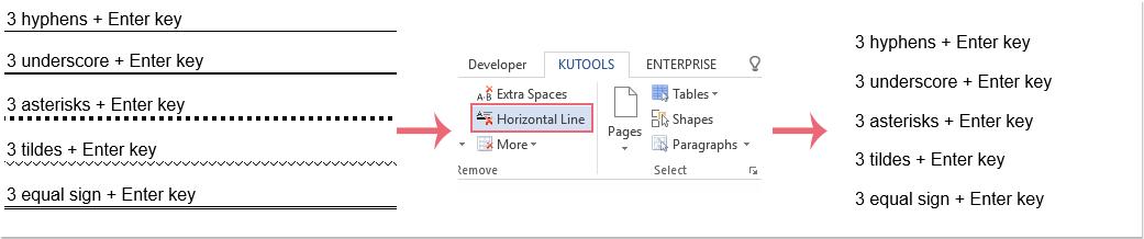 doc remove horizontal lines 6