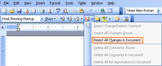 How to remove track changes from Word document?
