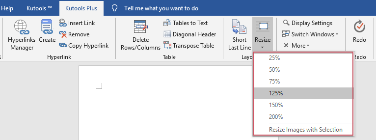 How To Resize All Multiple Images In Word