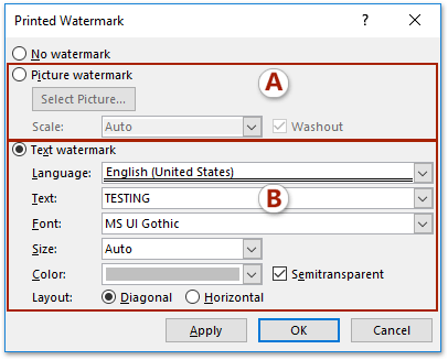 How To Apply Watermark To One Or All Pages In A Word Document