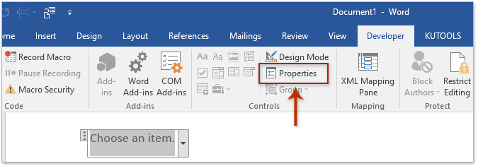 How To Insert A Drop Down List In Word