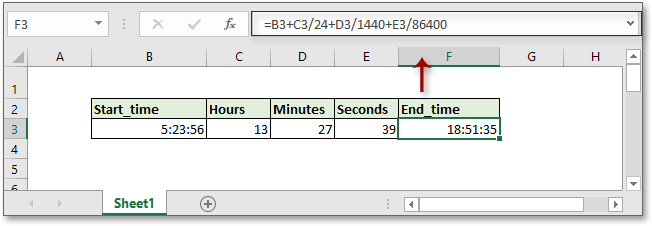 doc add hours minutes seconds 2