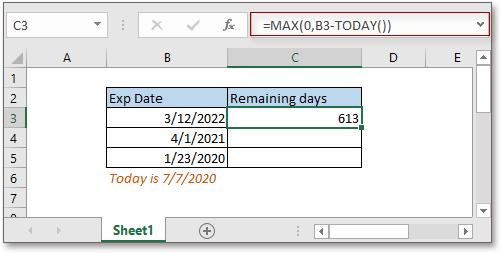 doc remaining days from today 2