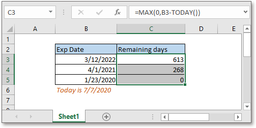 doc remaining days from today 3