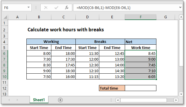 doc calculate network time 4