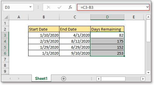 doc calculate remaining days 2