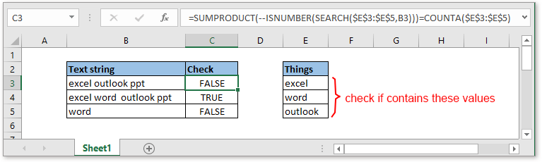 doc check if cell contain all of many things 1