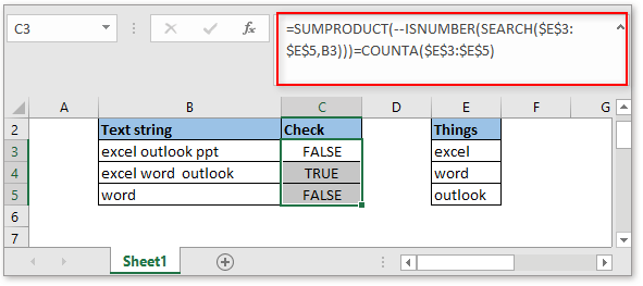doc check if cell contain all of many things 2