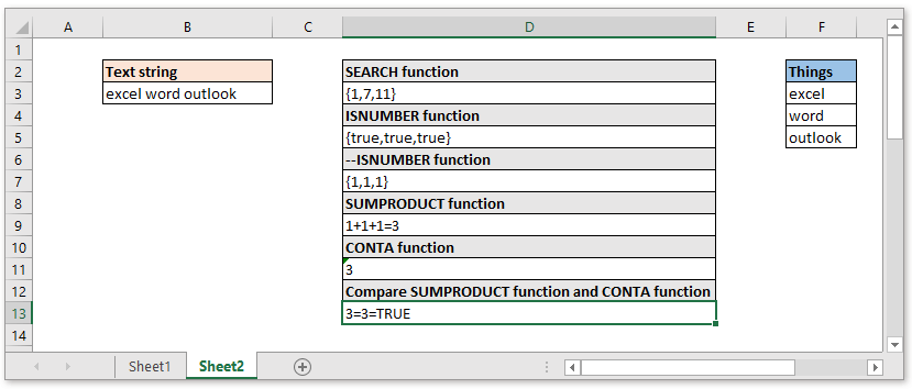 doc check if cell contain all of many things 6