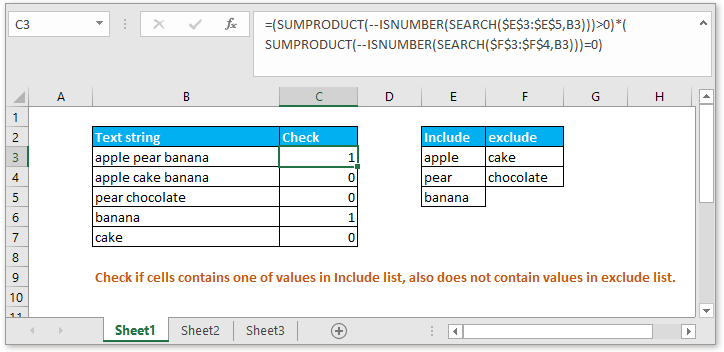 doc check if contain one of things but exclude 1