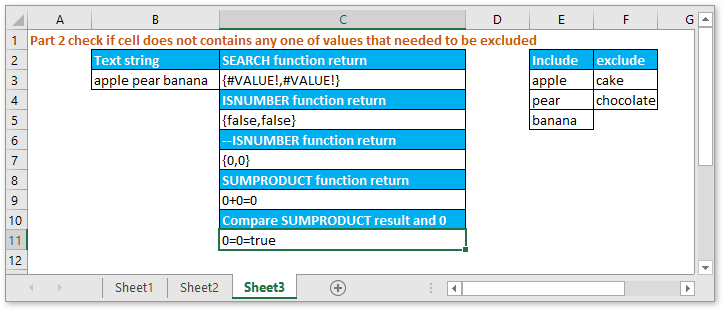 doc check if contain one of things but exclude 4