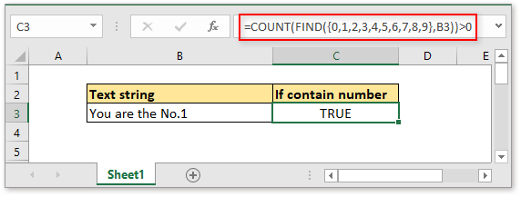 doc check if cell contain number 2
