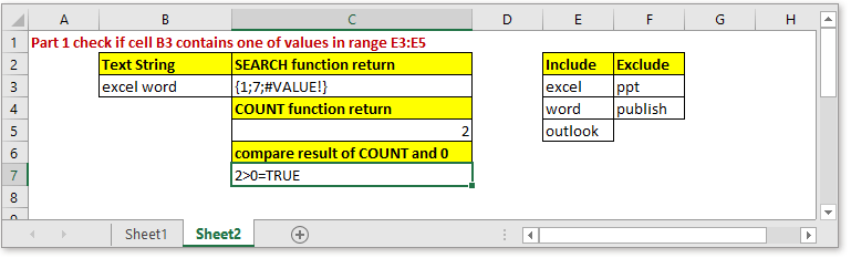 doc check if contains some but not others 3