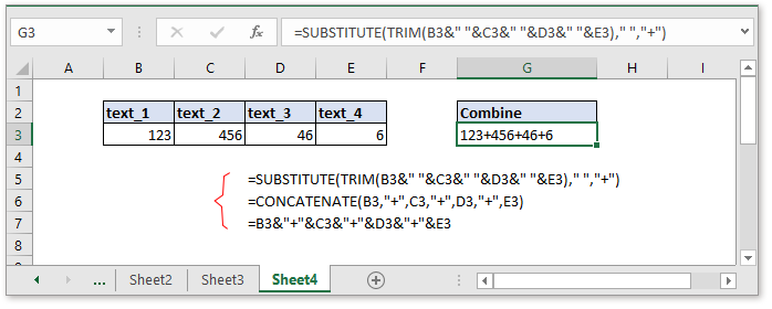 doc combine cells with comma 8