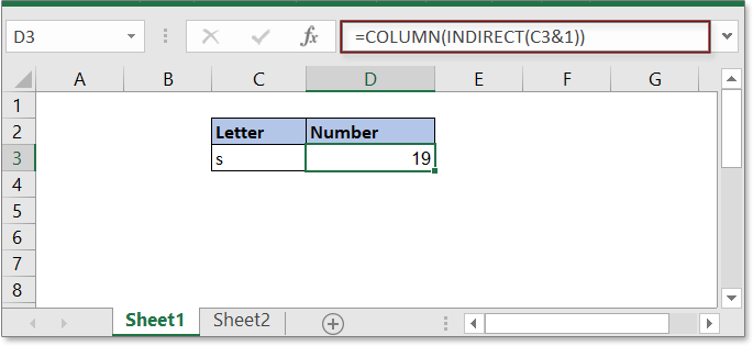 convert letter to number 2
