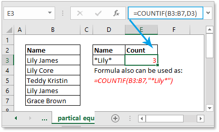 doc count cells equal to 2