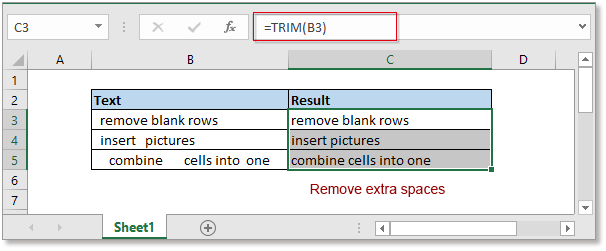 doc remove leading trailing spaces 2
