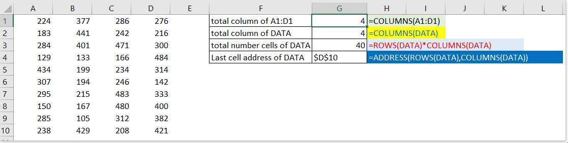 colonnes de documentation fonction 1