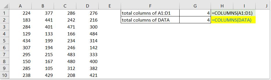 colonnes de documentation fonction 2