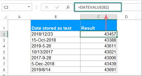 funkcja doc datevalue 1