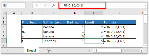 doc find function 5
