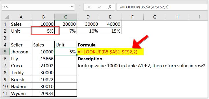 функция doc hlookup 2