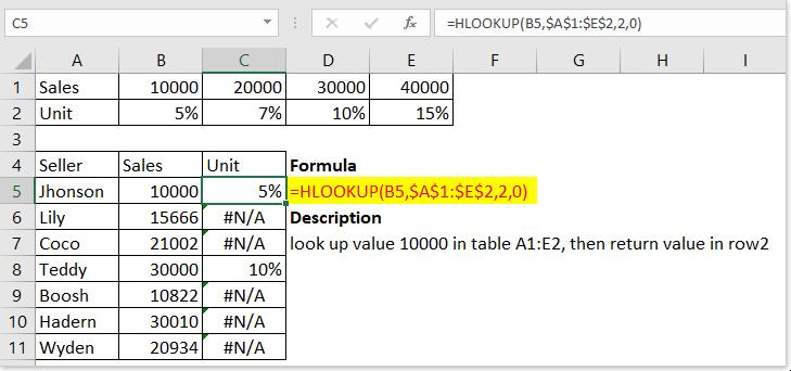 функция doc hlookup 4