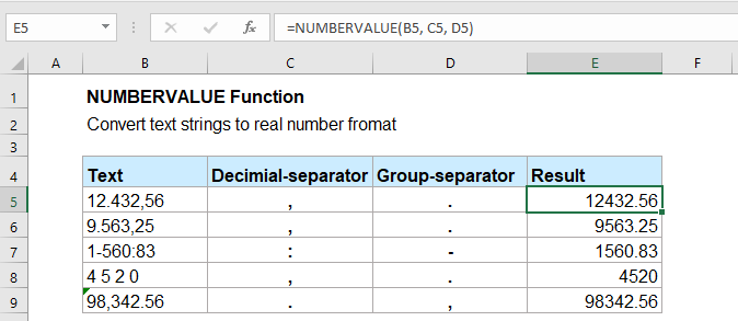 doc numbervalue function 1