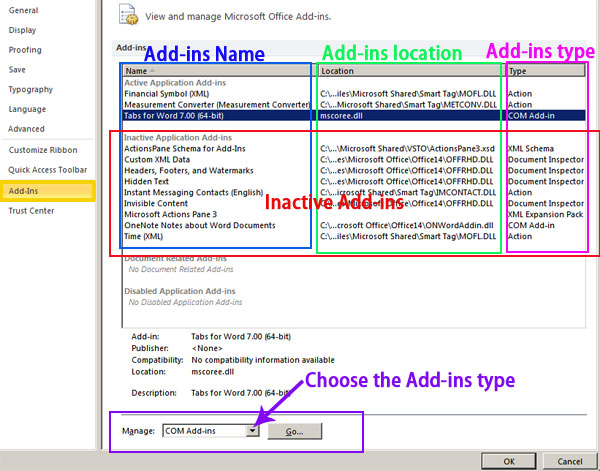 Office Tab: How to enable Office Tab when it is disabled?