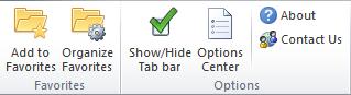 office tab in ribbon