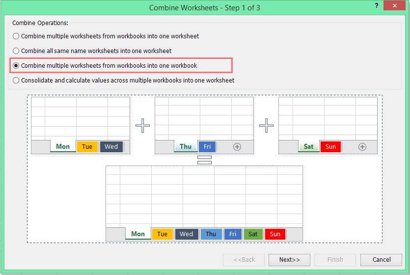 Quickly merge / combine worksheets or workbooks into one workbook in ...