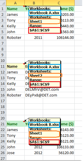 Quickly combine multiple worksheets / ranges from ...
