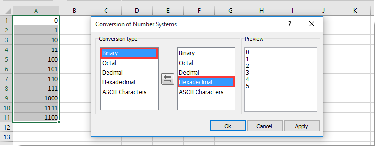 Quickly convert between different number systems without