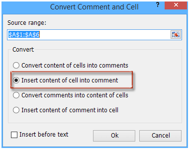 shot convert between comment and cell 3