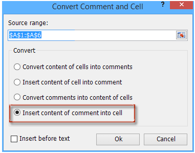shot convert between comment and cell 6