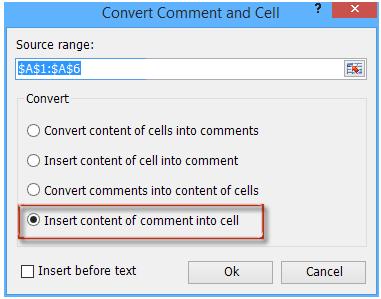 pretvorba posnetka med komentarjem in celico 6