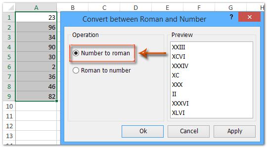 Быстрое преобразование римских цифр в числа в Excel